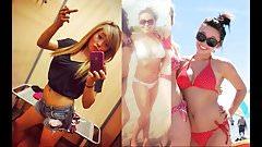 Jessy Bomb Teen Inflates Tiny Bikinis