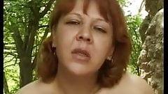 Sexy mature Masturbation outside