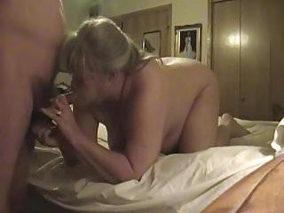 Kim sucking cock.