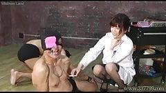 Japanese Femdom Sadist Researcher Experiments Masochists
