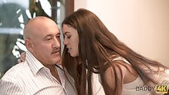 DADDY4K. it`s very HOT  old and young sex gives babe a chance to reach