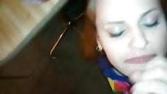 She loves sucking my cock and swallowing cum