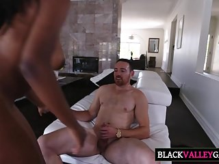 Pretty Dark Teen Daya Knight Gets Drilled