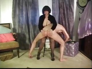 Cock Between Pantyhosed Legs When Spanked