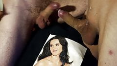 Tribute to Katy Perry. Friendly fire cumshot.