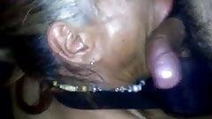 Shemale Gigi blowjob a big cock