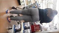 Sexy milf in grey sweats