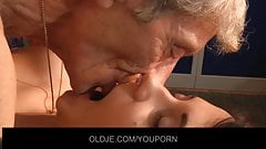 Young brunette fuck old_man in the dressing room thumb