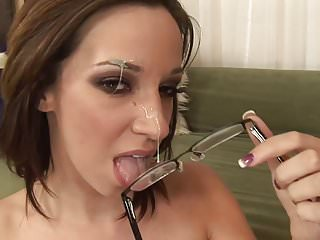 WANKZ- Jada Stevens Spermed On Glasses