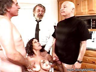 Preview 6 of Sweet Tits Swinger Threesome For Brunette Swinger Wife