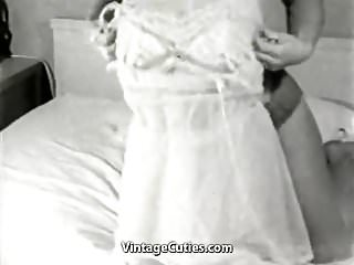 Preview 3 of Smiley Naked Cunt Posing in Her Bedroom (1950s Vintage)