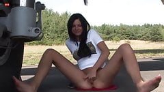 Eroberlin Monika Benz teen outdoor airport sexy masturbation