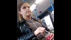 Hungarian Girl Spy Camera Hidden Camera in Bus Voyeur Video