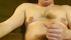 Moustached guy enjoiyng the orgasm