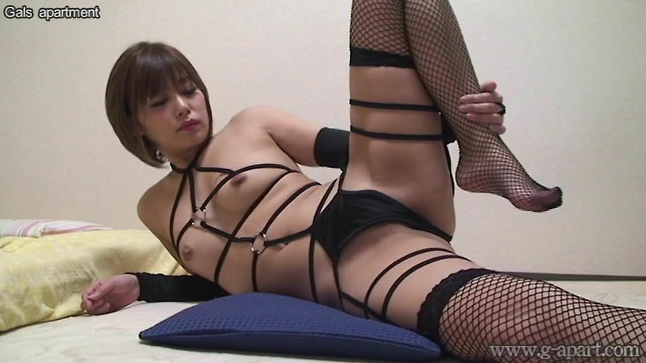 Japanese Girl Hikaru Konno in Fishnet Lingerie