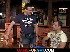 Homo guy seduces and bangs bartender