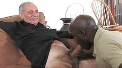 Mature Black Daddy And Three White Grandpa's, One Good Time