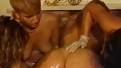 Group of lesbians test their limits with speculum play