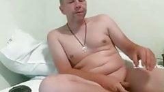 dad gets undress and show!