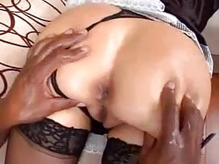 extremely hot latina maid is fucked by BBC