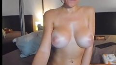 MILF big fake tits boobs big hard nipples big wet pussy lips