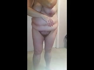 put on lotion, hairy pussy, pantys,big tits, girdle