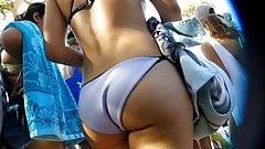 Teen ass leaving beach