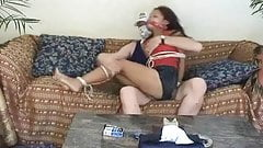 Asian Girl Tied Up By An Intruder