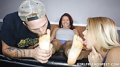 Their First Foot Worship Threesome