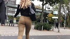 Jeans teen busted candid
