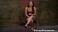 Asian slut Mena Li savagely fucked by her big cocked master