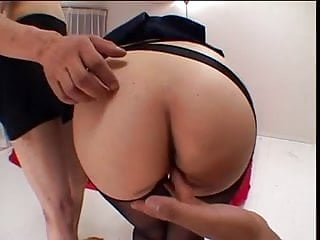 Fragile asian chick are fucked hard and fed cum by tough fuckers
