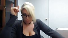 secretary caught masturbate at work