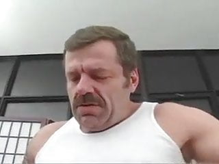 Straight bear sucks cock and receives facial