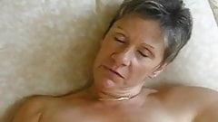 French matura masturbating