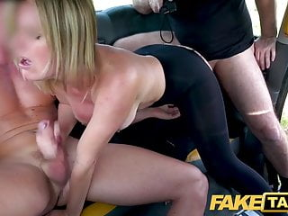 Fake Taxi Greedy Blonde Milf Summer Rose Demands Two Cocks