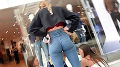 Insane Ass on British Teen in Jeans!