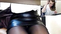 Cam Girl Masterbates in Office