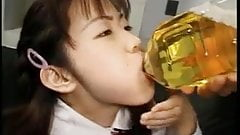 Asian girl fuck and drink piss