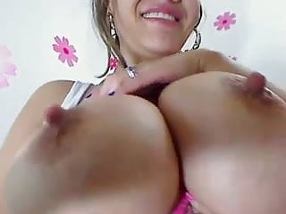 Big milky latina tits in your face