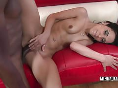 Petite hottie Tia Cyrus gets nailed with a big black cock