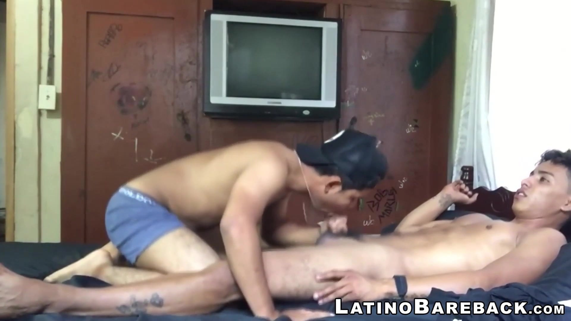 Younger latino barebacked doggystyle earlier than jerking off to cum