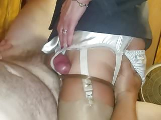 Doctor dick fucking my wifes garter straps