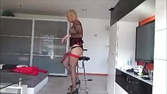 plugged chastity cage whore
