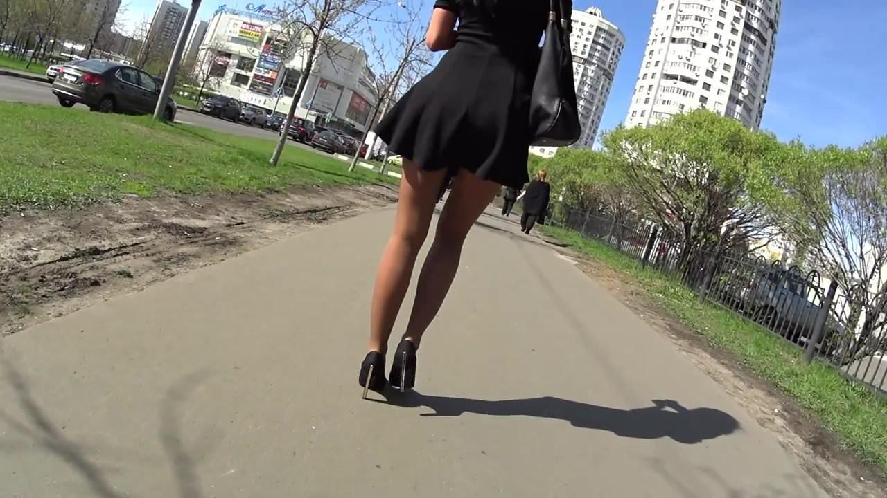 pantyhose women walking
