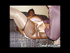 OmaFotzE Ebony and Black Mature Granny Chubbies