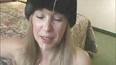 Wife in Fur Gets Cumshot
