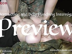 Belly Punching and Busty Tit Torture Interrogation Sir Rob