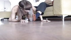 Sub Slave spanking at feet's Thumb