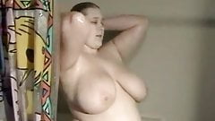 Fat BBW Ex Girlfriend with big Tits taking a shower